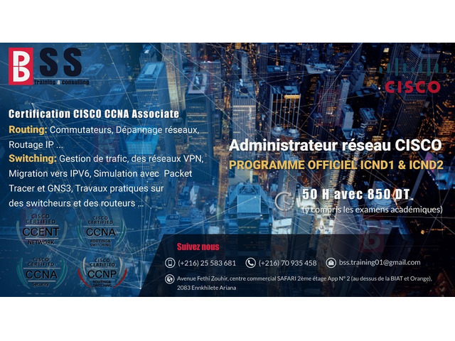 Formation :Certification CISCO CCNP - 1