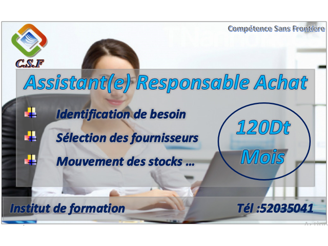 Formation Assistant(e) Responsable Achat - 1/1